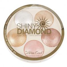 Paleta Profesionala Iluminatoare Shiny Diamond 5 Color Highlighter Palette 3D 15 g