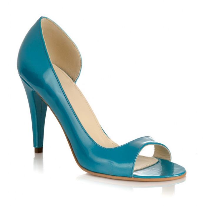 Pantofi piele naturala Sea Albastru - sau Orice Culoare