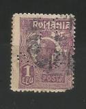 No(08)timbre-Romania 1919-L.P.73-UZUALE FERDINAND-PERFIN MB&Co.-1 LEU