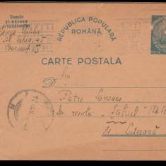 1950 Carte postala adresata sahistului Petre Seimeanu, director Revista de Sah