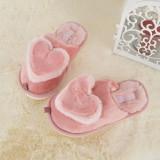 Cumpara ieftin Papuci De Casa De Copii Love Heart Piersica PEACH 32-33 EU