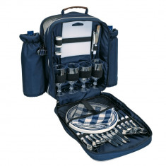 Rucsac pentru picnic, 4 persoane, albastru, Everestus, CP10HK, poliester, saculet de calatorie si pastila racire incluse