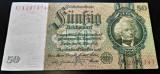 Bancnota istorica 50 MARCI - GERMANIA, anul 1933  *cod 497 A  = EXCELENTA!