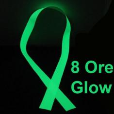 Banda fosforescenta luminoasa Verde, autoadeziva, lungime 1 m