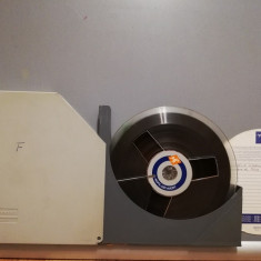 Banda Magnetofon  AGFA diametru rola 18 cm cu Cutie  - stare Foarte Buna/RFG