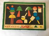 Joc vechi Cehoslovacia Magnetic Toia, puzzle lemn, tabla magnetica
