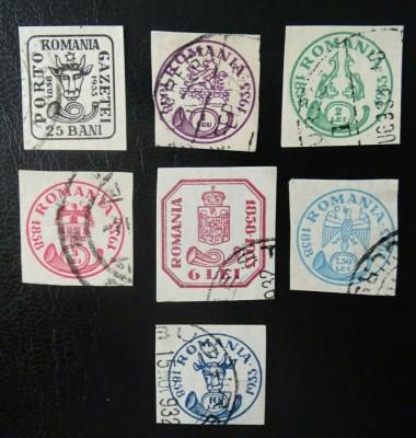 Romania LP 102 , Aniversarea marcilor Cap de bour , Stampilate foto