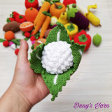 Conopida legume jucarie copii handmade bumbac
