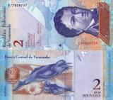 VENEZUELA 2 bolivares 19 decembrie 2008 UNC!!!