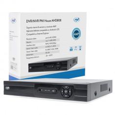 Aproape nou: DVR/NVR PNI House AHD808, maxim 8 canale 4MP analogice sau IP, H265, i