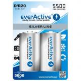 Baterie reincarcabila R20 D 5500mAh everActive Silver Line Conținutul pachetului 1x Blister