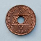 NIGERIA  -  ½ Penny 1959  -  Elizabeth II