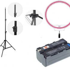Kit lumina continua Lampa Yongnuo YN608RGB 3200K - 5500K+ 2x Acumulatori Dste NP F+ incarcator+ stativ