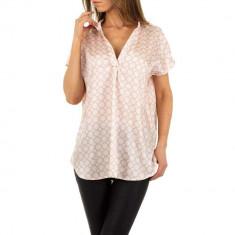 Bluza vaporoasa, asimetrica, de culoare roz, L, M, S