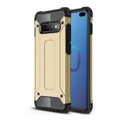 Husa Samsung Galaxy S10 Plus, Hybrid Armor Rugged, Gold