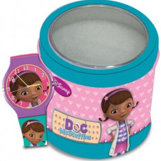 Ceas Junior WALT DISNEY KID WATCH Model DOC MCSTUFFINS (Dott.essa Peluche) - Tin Box 561146