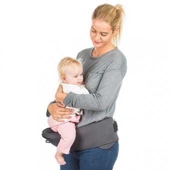 Marsupiu copii 6 luni+ Chipolino Lilly graphite foto
