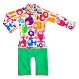Costum de baie Funny Fish marime 86-92 protectie UV Swimpy for Your BabyKids