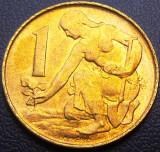 Moneda 1 COROANA - CEHIA, anul 1992  *cod 489 - A.UNC