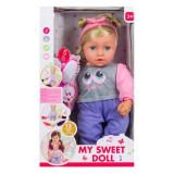 Papusa blonda interactiva Baby Doll o buna prietena 12 melodii 5 sunete +3 ani, Altele, Fata, Multicolor