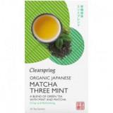 Ceai Verde Matcha Menta Bio 20 doze Clearspring Cod: 5021554001577