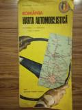 Hartă automobilistica Romania RSR, 1974, ACR, comunism, Epuran si Marinache