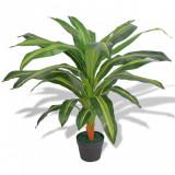 Plantă Dracena artificială cu ghiveci, 90 cm, verde