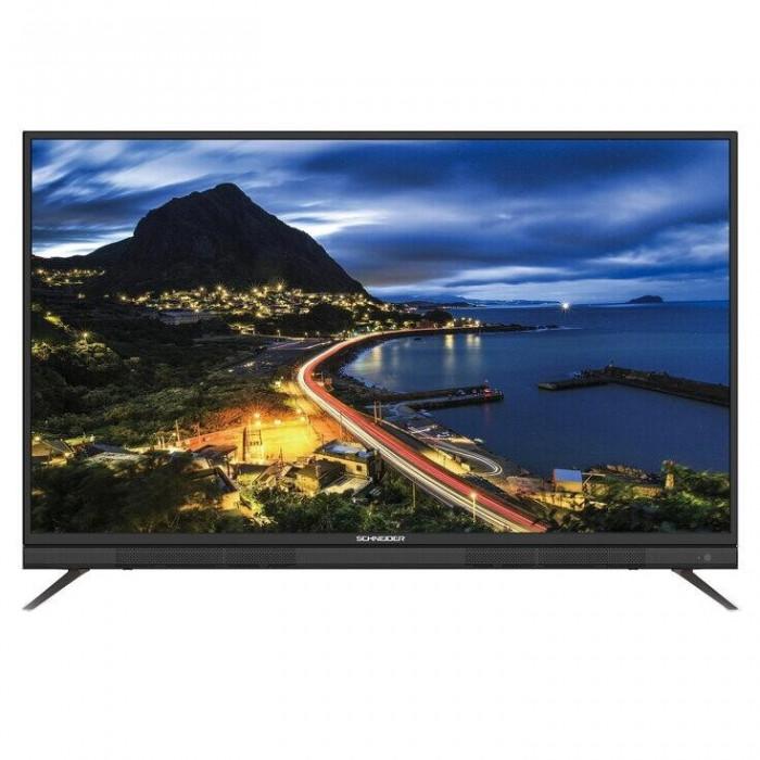 Televizor LED Schneider 165 cm, 65SU702K, Smart, Ultra HD 4K, Soundbar integrat, Negru