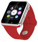 Smartwatch iUni A100i 1294-4, BT, LCD Capacitive touchscreen 1.54 Inch, Camera, Bratara Silicon, Functie telefon (Rosu)