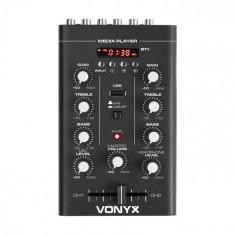 Vonyx STM500BT, mixer Dj cu 2 canale, MP3-Player, USB-port, negru