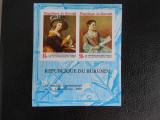 Bloc timbre pictura nestampilat Burundi timbre arta timbre picturi