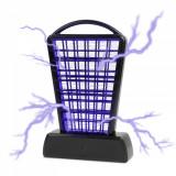 Capcana Electrica pentru Insecte si Muste, Insectocutor de Masa, cu dubla alimentare - baterie si USB, culoare negru