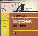 Cumpara ieftin Dictionar De Rime - M. Eminescu
