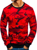 Bluză pentru bărbat fără glugă camuflaj-roșie Bolf TX20