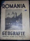 Carte veche,Manual de Geografia ROMANIEI pt.clasa a III-a primara,1946,T.GRATUIT
