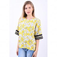 Bluza Florala Object Margret 3/4 Galben, 34, 36, 38, 40, 42