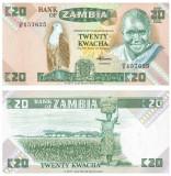 = ZAMBIA - 20 KWACHA - 1980-88 - UNC  =