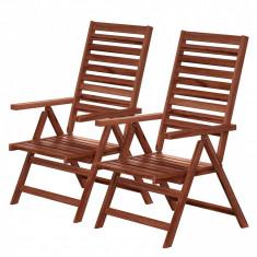 Set de 2 scaune rabatabile Mimo I din salcam