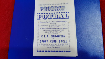 program CFR Cluj - SC Bacau foto