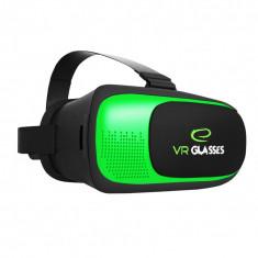 Ochelari Virtuali verde/gri petrol compatibili Google Cradboard cu telecomanda conectare Bluetooth pentru telefoane Smart cu ecran intre 3.5 si 6a€,
