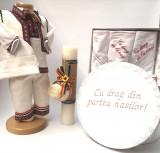 Cumpara ieftin Set Traditional Botez Baiat - Costumas + Trusou + Cutie + Lumanare 5