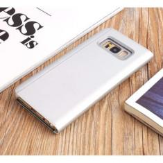 Husa Flip Cu Stand Samsung Galaxy S8 Plus G955 Tip Oglinda Argintie