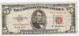 Statele Unite (SUA) 5 Dolari 1953 A - (Serie Red-81770891) P-381