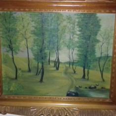 Tablou cu peisaj din pădure