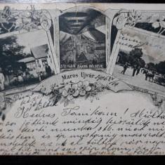 OCNA MURES - MAROS UJVAR - BAILE - SALINA - STRADA KIRALY - COLAJ - ANUL 1906, Circulata, Fotografie