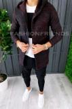 Cardigan barbati grena - hanorac barbati - hanorac slim fit - cod A4234