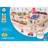 Circuit cu tren marfar (133 piese) PlayLearn Toys