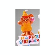 Lumanare Decorativa TEDDY HAPPY BIRTHDAY 8cm