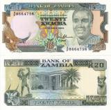 ZAMBIA 20 kwacha ND (1989-91) UNC!!!