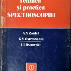 Zaidel, Ostrovskaia, Ostrovski: Tehnica si practica pectroscopiei 1052